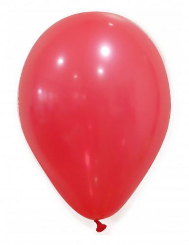 100 globos de color rojo 27 cm