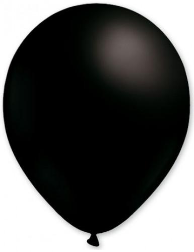100 globos de color negro de 27 cm