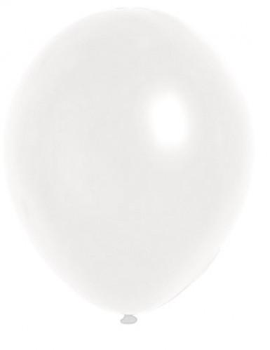 100 globos metálicos de color blanco de 29 cm