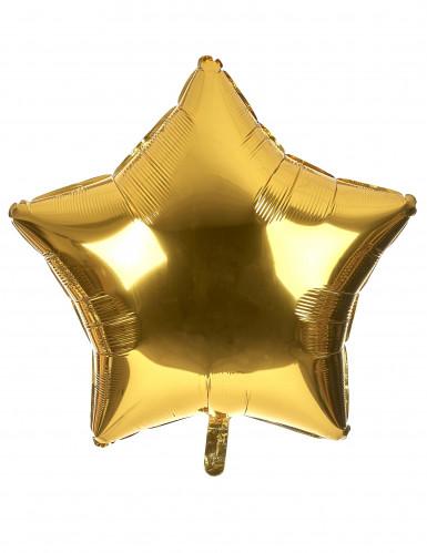 Globo aluminio gigante estrella dorada 80 cm