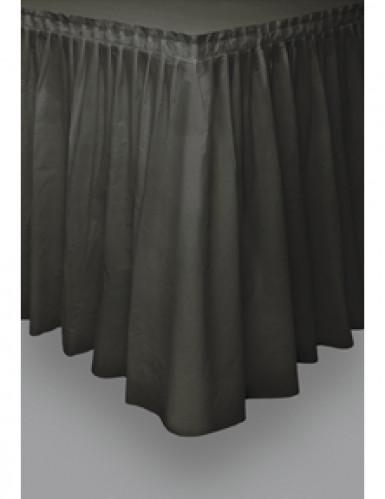 Falda de mesa negro plástico