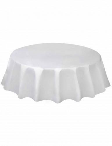 Mantel redondo blanco plástico 213 cm