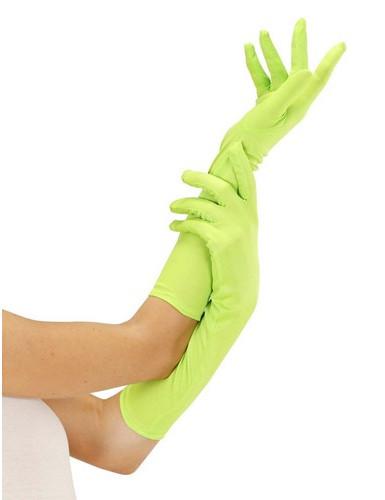 Guantes largos verde fluo