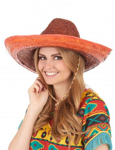 Sombrero mejicano naranja-2