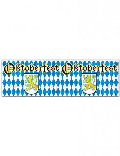 Pancarta azul y blanca Oktoberfest