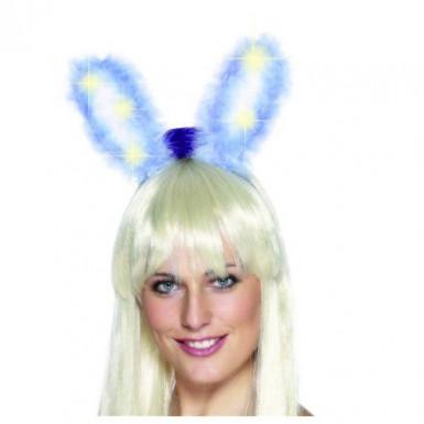 Orejas de conejo azules luminosas