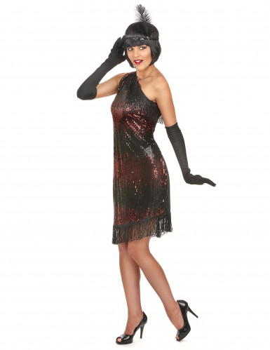 Disfraz de charlestón negro y rojo-1