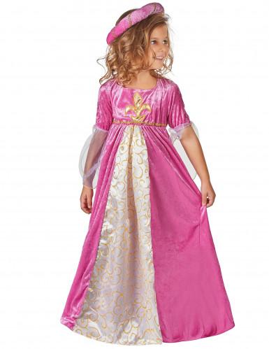 Disfraz de princesa rosa y dorado para niña