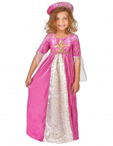 Disfraz de princesa rosa y dorado para niña-1