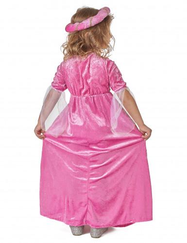 Disfraz de princesa rosa y dorado para niña-2