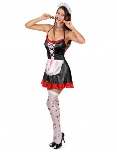Disfraz de criada sangrienta