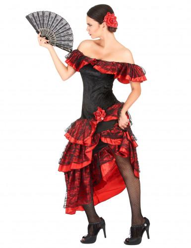 Disfraz de flamenca rojo y negro-1