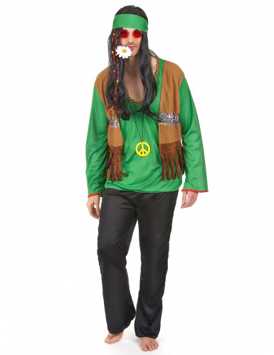 Disfraz de hippie verde