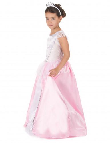 Disfraz princesa niña rosa y blanco-1