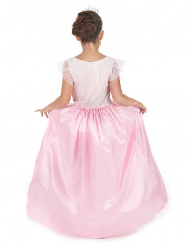 Disfraz princesa niña rosa y blanco-2