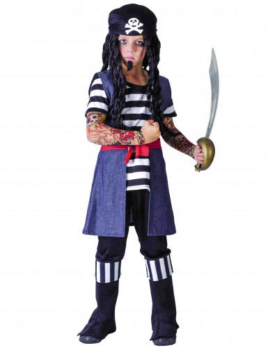 Disfraz de pirata tatuado