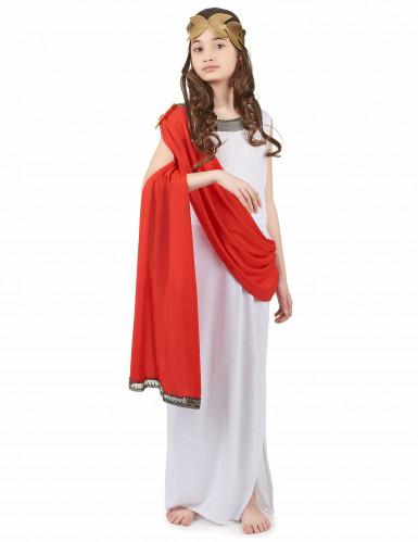 Disfraz de diosa romana niña