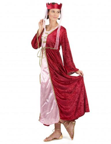 Disfraz de pareja Reina medieval-1