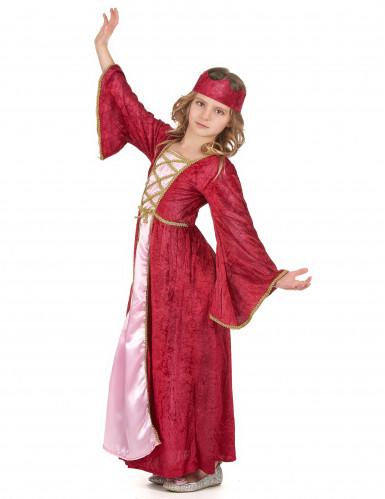 Disfraz de pareja Reina medieval-2