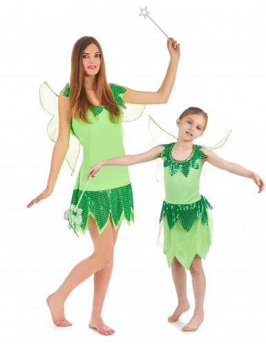 Disfraz de pareja Hada verde