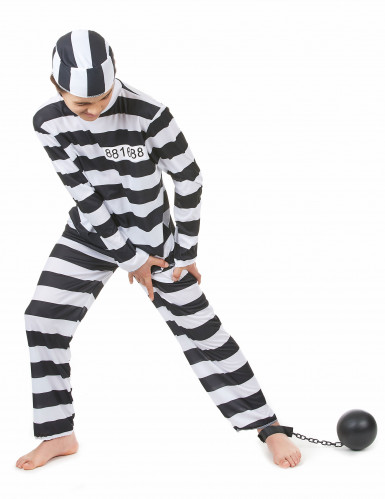 Disfraz de pareja preso padre e hijo-2