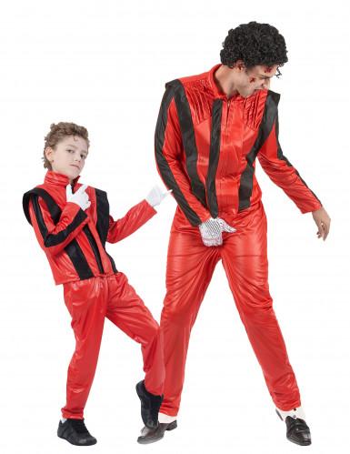 Disfraz de estrella del pop padre e hijo