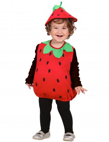 Disfraz de fresa para niña