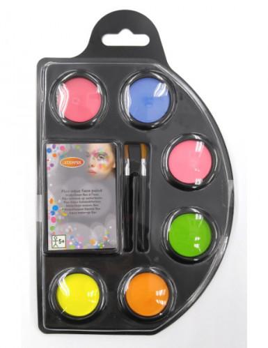 Set maquillaje agua fluo