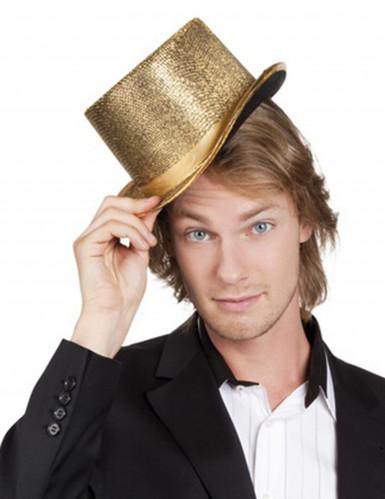 Sombrero de copa dorado