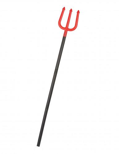 Tridente rojo diablo 120 cm