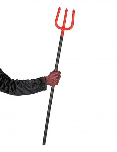 Tridente rojo diablo 120 cm-1