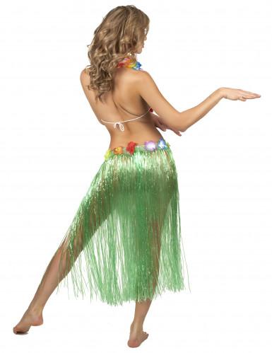 Falda hawaiana verde adulto-2