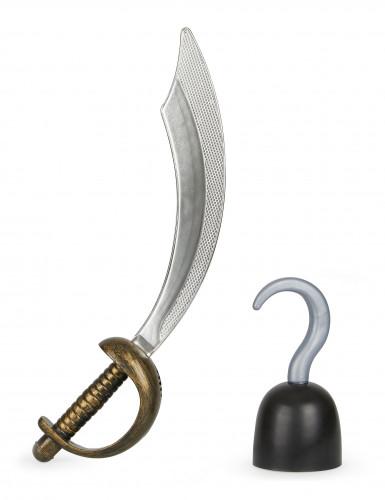 Kit espada y garfio de pirata