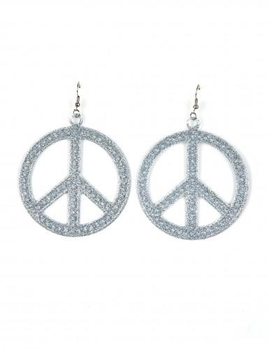 Pendientes hippie plateados
