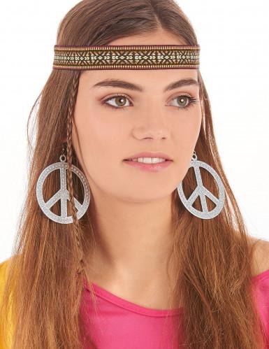 Pendientes hippie plateados-1