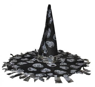 Sombrero de bruja negra y gris Halloween