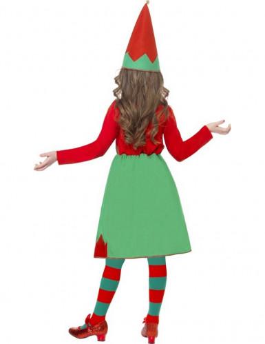 Disfraz elfo niña de Navidad-2