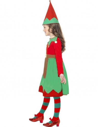 Disfraz elfo niña de Navidad-1