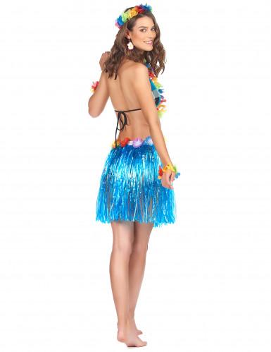 Falda hawaiana corta azul-1