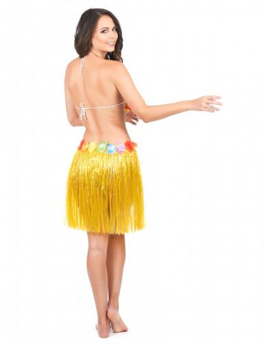 Falda hawaiana corta amarilla-2