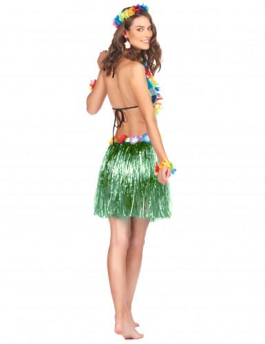 Falda hawaiana corta verde-1