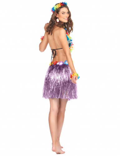 Falda hawaiana corta violeta-1