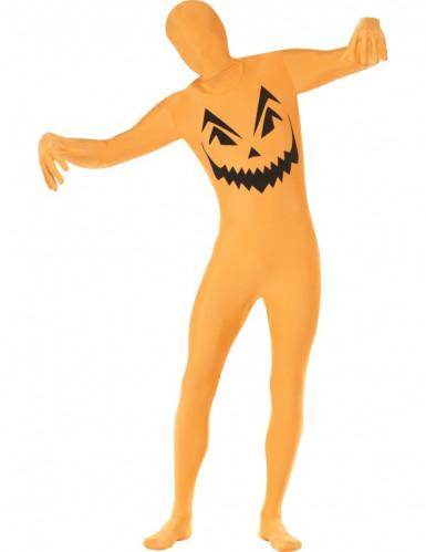 Disfraz segunda piel calabaza adulto Halloween