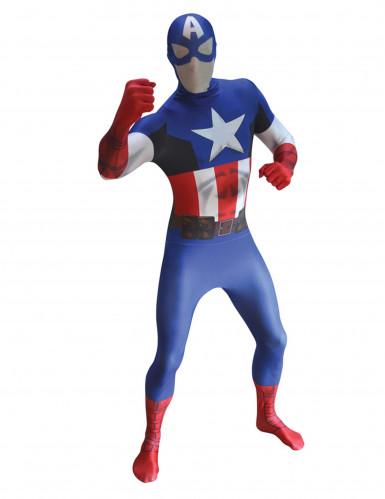 Disfraz Capitán América™ adulto segunda piel