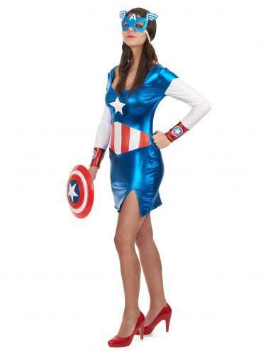Disfraz de Capitán América sexy mujer-1