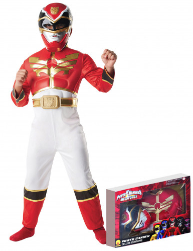 Disfraz Power Rangers Megaforce™  rojo infantil caja