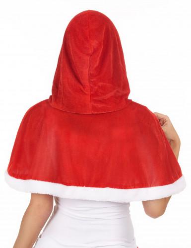 Capa con capucha Mama Noel mujer-1