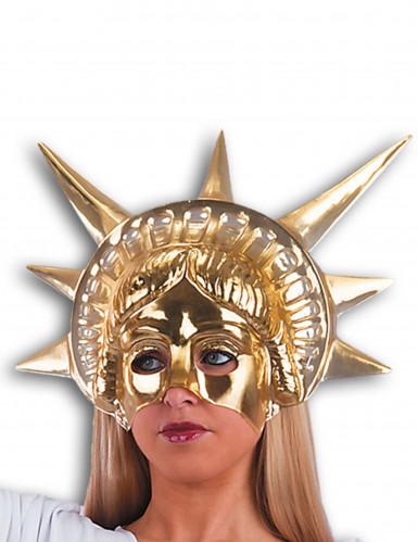 Semi máscara dorada Estatua de la
