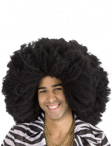 Peluca afro negra adulto