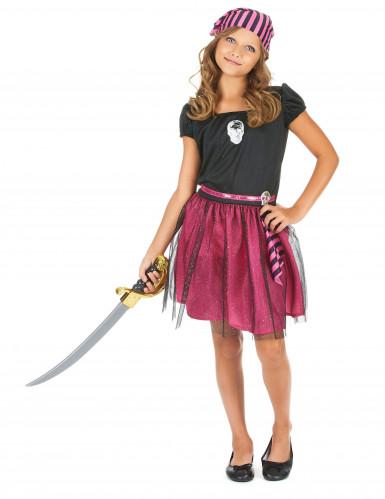 Disfraz de pirata rosa niña